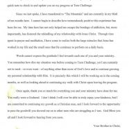 Letter From John at TC